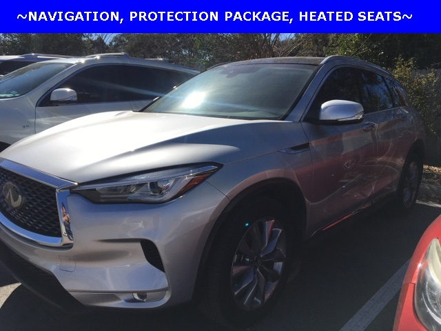 Pre-Owned 2019 INFINITI QX50 LUXE, NAVIGATION, PROTECTION PACKAGE, HEATED SEATS