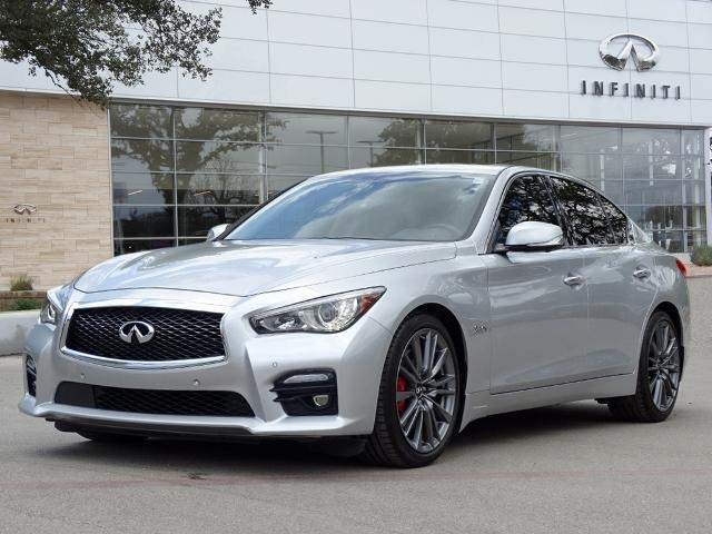 Pre-Owned 2017 INFINITI Q50 Red Sport 400, Drivers Assist, Leather Seats