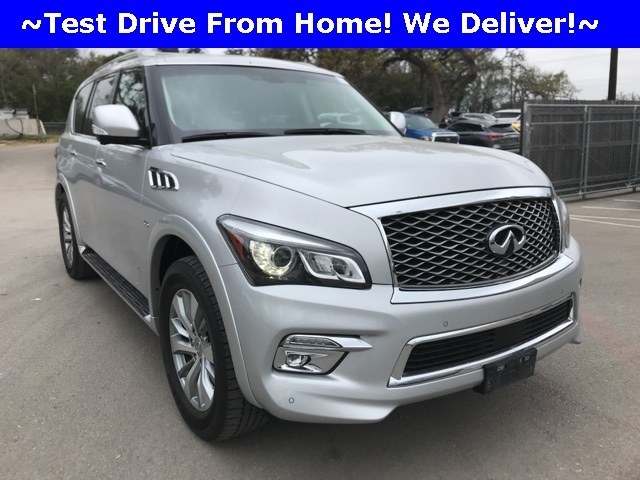 Pre-Owned 2016 INFINITI QX80 Drivers Assist, Second row bench