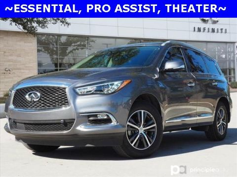 Certified Pre-Owned 2019 INFINITI QX60 LUXE, ESSENTIAL, PRO ASSIST, THEATER