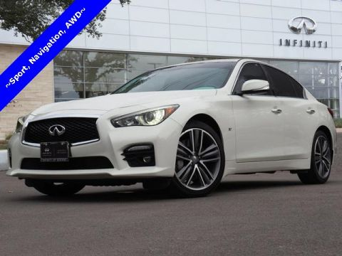 Certified Pre-Owned 2015 INFINITI Q50 Sport, Navigation, All Wheel Drive