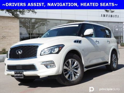 Certified Pre-Owned 2017 INFINITI QX80 Drivers Assist, Navigation, All Season Package