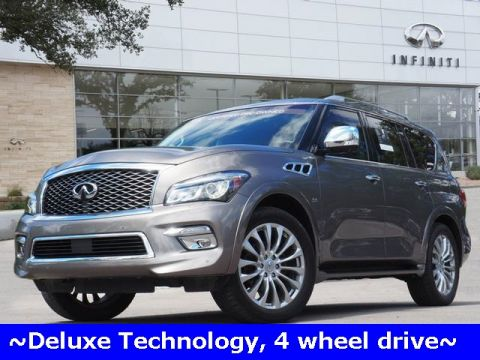 Certified Pre-Owned 2016 INFINITI QX80 Deluxe Technology, DVD, 4 Wheel Drive