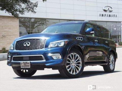 "Certified Pre-Owned 2016 INFINITI QX80 Drivers Assist, Theater, 22"" Wheels"