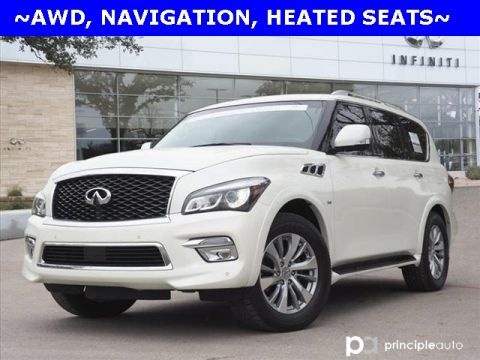 Certified Pre-Owned 2016 INFINITI QX80 AWD, Navigation, Heated Seats