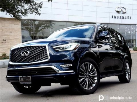 "Certified Pre-Owned 2018 INFINITI QX80 Drivers Assist, Theater, 22"" Wheels"