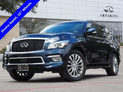 "Certified Pre-Owned 2016 INFINITI QX80 Drivers Assist, 22"" Wheels"
